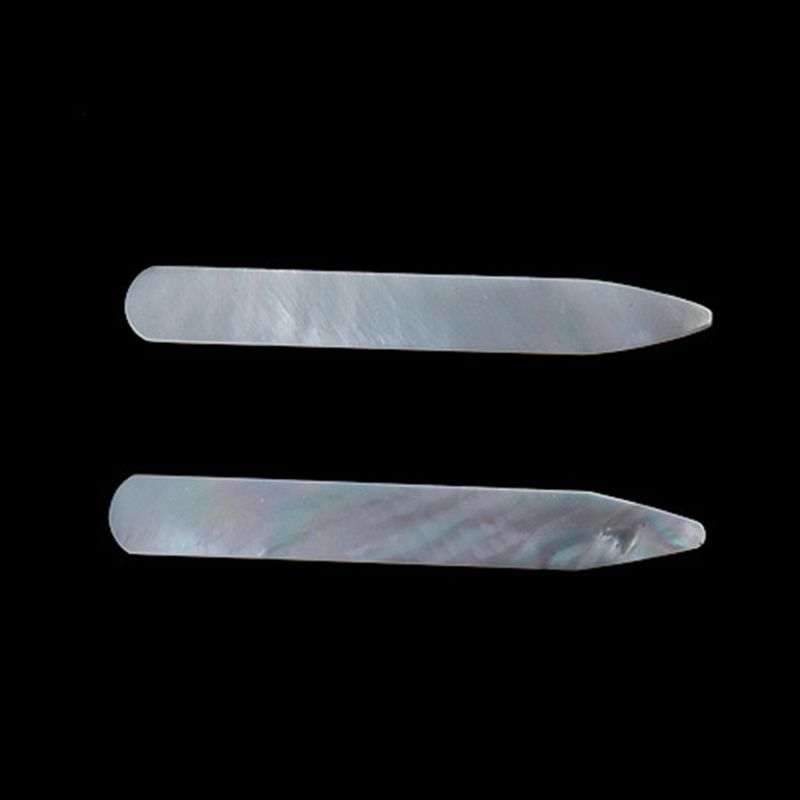 2Pcs Metal Collar Stays Polished Necklace Remains Stands Bone Ribs For Men Shirt LX9E