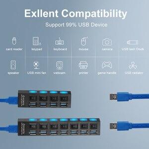 Usb-концентратор 3,0 док-станция USB разветвитель Мульти USB 3,0 2,0 концентратор USB3 4/7 Порты и разъёмы мульти Порты и разъёмы хаб ПК Аксессуары для ванной комнаты с Мощность адаптер для компьютера