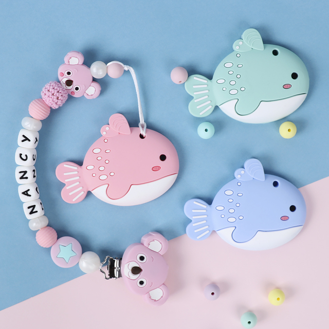 Animal Patterned Silicone Teether