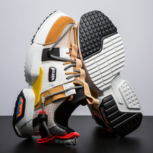 men Running Shoes Cushioning Breathable Mesh Height Increasing  INS Ulzza Harajuku Sneakers Outdoor Flats Walking