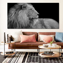 Lion Looking Backwards Canvas Poster Nordic Decorative Picture Painting Modern Wall Art Canvas Painting Home Decor Art Prints hot sale green leaf canvas poster nordic decorative pictures painting modern wall art canvas painting home decoration art prints