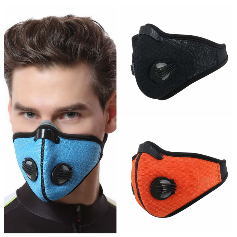Cycling Face Nylon Mask Spandex Activated Carbon Lightweight Breathable Adjustable Mouth Protection Outdoor Sportswear Accessori