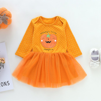 Halloween Pumpkin Minnie Dress - Baby Girls