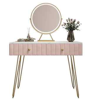 Nordic dressing table bedroom modern minimalist online celebrity ins wind marble dressing table solid wood dressing table