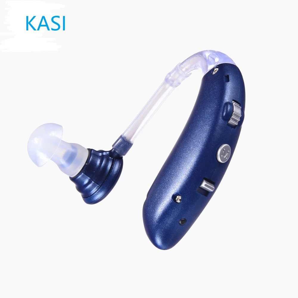 Bluetooth Rechargeable Digital Hearing Aid Berat Kehilangan Invisible Telinga AIDS Tinggi Power Amplifier Suara Penambah untuk Tuli Orang Tua