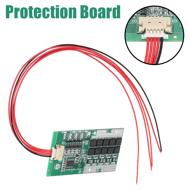 Integrated Circuits 1pc 4S 30A 12V BMS PCB Protection Board With Balance For LiFePo4 LiFe 18650 Battery Cell
