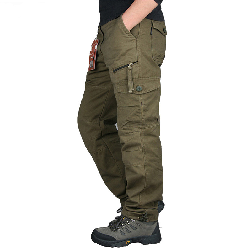 Men Straight Streetwer Tactical Pants Nice Spring Autumn Army Cargo Pants Casual Long Trousers Pantalon Homme Plus Size 2XL