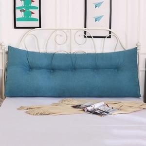 Image 2 - חמה משענת כרית נשלף מיטת כריות ארוך קריאת כרית לספה טאטאמי טריז רצפת כרית מוצק צבע מותניים כרית