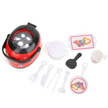 Kuchnia zestaw zabawek gospodarstwa domowego symulacja ryżowar mały sprzęt agd wielofunkcyjny edukacyjny interaktywny tanie i dobre opinie Tbest Other CN (pochodzenie)