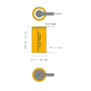 Image 1 - PKCELL batería recargable de 1200mah Sub C SC 4/5sc 1,2 V nicd, tapa plana con Lengüetas para iluminación de emergencia y Radios de aves de corral, 12 Uds.