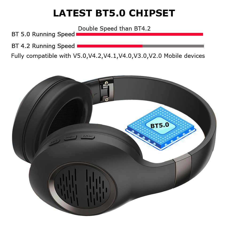 Wysokiej jakości składane ANC aktywne słuchawki Bluetooth z redukcją szumów BT 50 bezprzewodowe słuchawki Casque Audio słuchawki Bluetooth