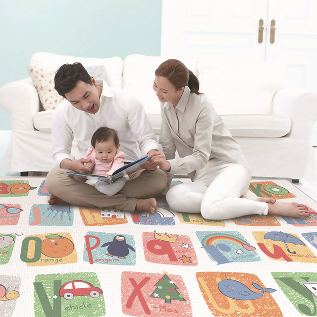 200*180cm Foldable Cartoon Baby Play Mat LDPE Puzzle Children's Mat Baby Climbing Pad Kids Rug Baby Games Mats