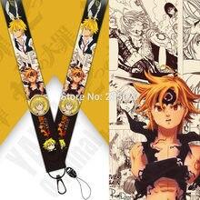 10 unids/set Anime los siete pecados mortales teléfono tiras de cordón Meliodas clave cuerda llavero Correa juguete para regalo