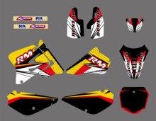 Grafika i tła naklejki zestawy pasuje do Suzuki RM85 RM 85 2002 2003 2004 2005 2006 07 08 09 10 11 2012