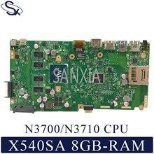 KEFU X540SA Laptop motherboard for ASUS VivoBook X540SA original mainboard 8GB-RAM N3710/N3700 цена и фото