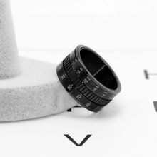 Hot Sale Rotatable Camera Lens Rings 12mm Titanium Stainless Steel Rings For Trendy Men Jewelry 2020