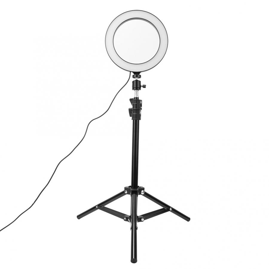 Usb-Lamp Light Tripod Phone-Holder Selfie-Ring LED Dimmable Video-Live Photography 20cm