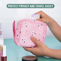 Portable Sanitary Cotton Storage Bag Sanitary Pads Pouch Women Cosmetic Bag Makeup Toiletries Organizer Large Capacity Organizer