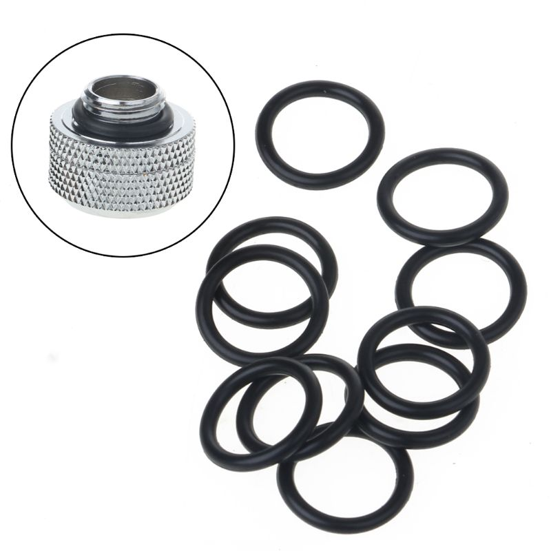 10Pcs G1/4 Thread Water Cooling Silicone Seal O-ring Water Cooler PC Accessories WXTA