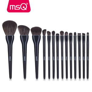 MSQ 14PCS Black Makeup Brushes Set Professional Foundation Powder Eyeshadow Beauty Cosmetic Soft Make up Brush Tools kits(China)