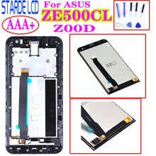 "Original 5,0 ""LCD für Asus Zenfone 2 ZE500CL Z00D LCD Digitizer Ersatz ZE500CL Display Touchscreen mit Rahmen(China)"