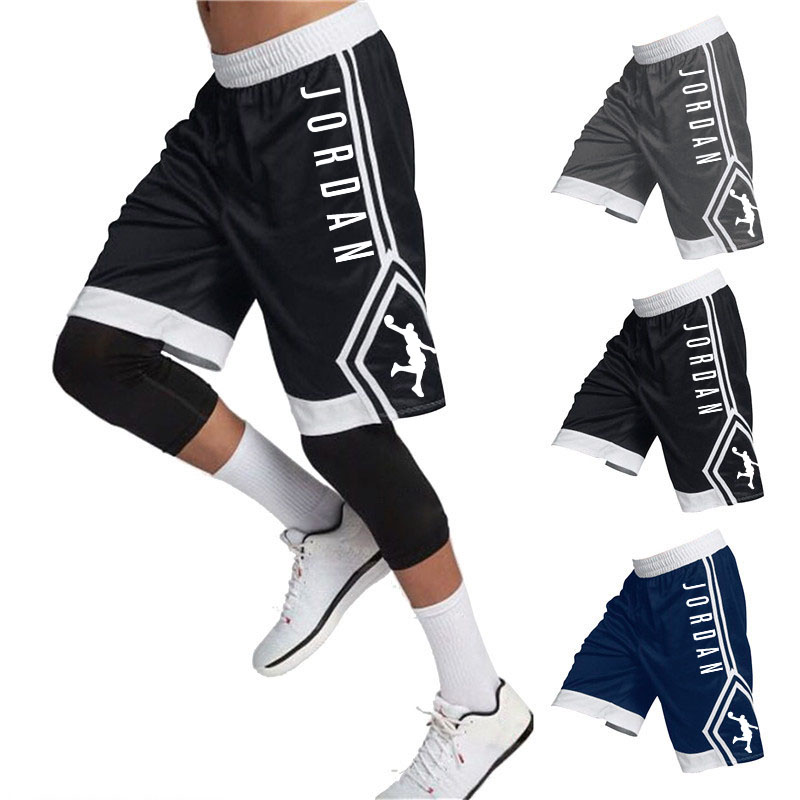 Summer Outdoor Running Sports Fitness Comfortable Breathable Quick-drying Male Five-point Pants Loose Jordan 23basketball Shorts