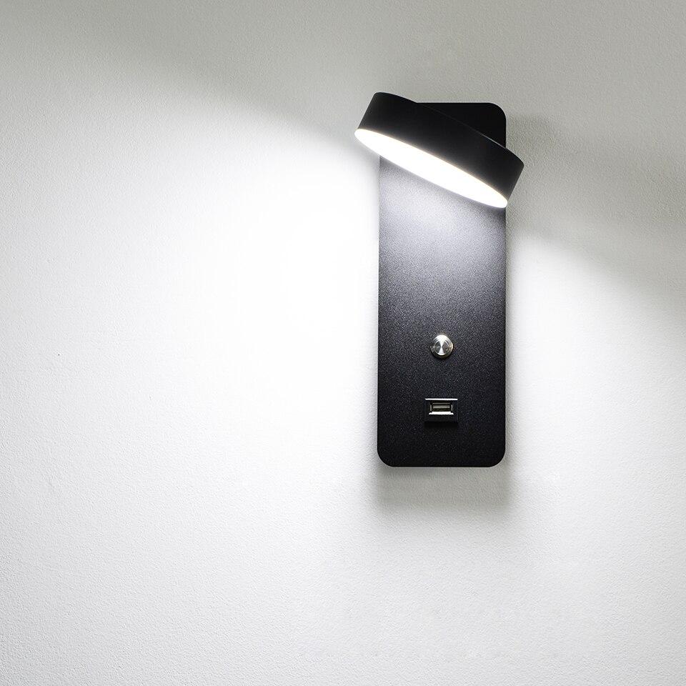 carga usb luz parede 9 w branco