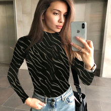 Black 2019 Autumn Point Printing Fashion Sexy Turtleneck Rompers Zipper Women Fashion Casual Streetwear Skinny Short Jumpsuits(China)