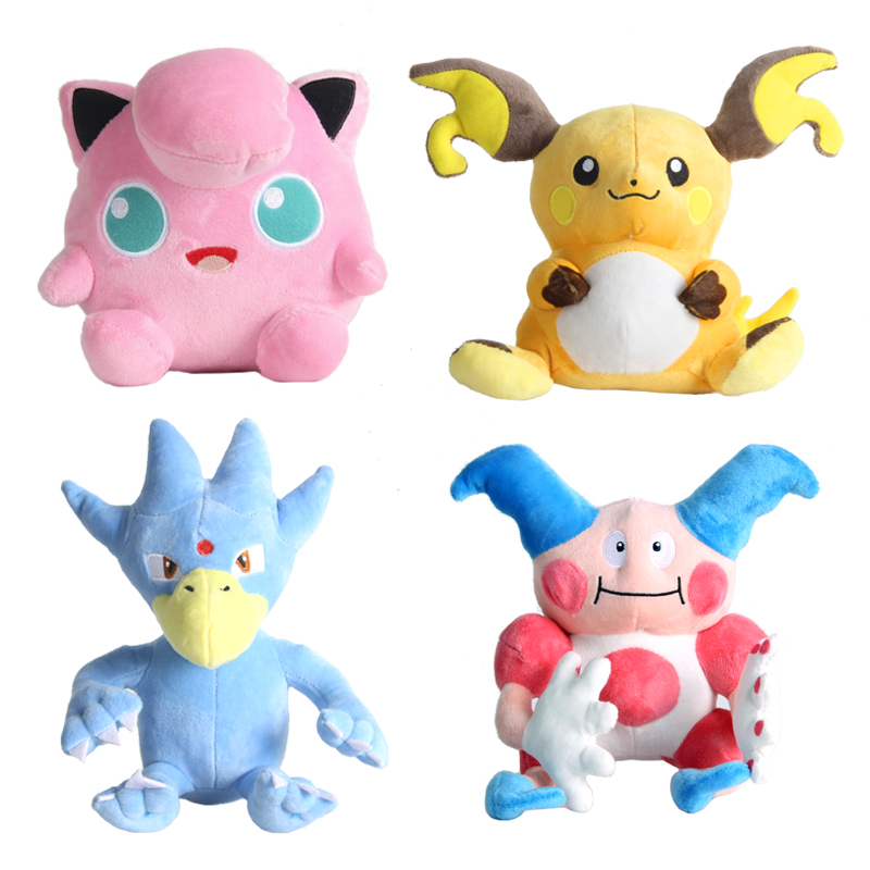 Golduck Blastoise Growlithe Charizard Mr.Mime Plush Doll Lovely Cartoon Stuffed Claw Machine Doll School Gift Hobby Collection