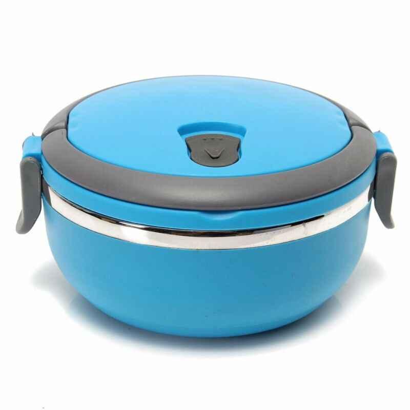 Termoizolowany termiczny pojemnik na jedzenie Bento okrągłe pudełko na lunch 1 warstwa