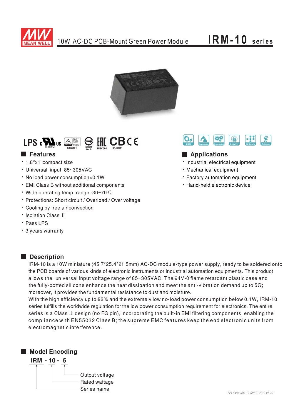 IRM-10-SPEC-1