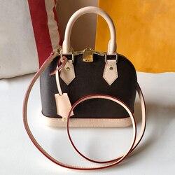 Free shipping! Alma BB leather Damier Ebene handbags luxury brand shoulder bag luxury SOUL handbag Monogram shell bag