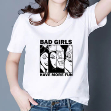 Plus Size Cool Print Tshirt Fascinating Summer Maleficent T shirt BAD GIRLS HAVE