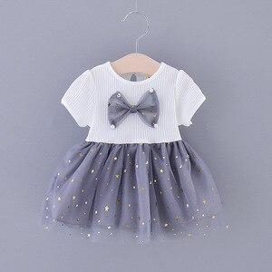 Vestido de bebê de verão infantil roupas da menina do bebê 2020 moda arco vestido de princesa para a menina do bebê festa tutu vestido da criança vestidos da menina