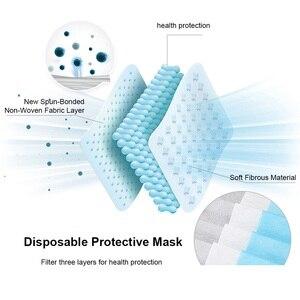 Image 3 - מסכות חד פעמיות רך 3 שכבה לא ארוג מגן מסכות אנטי אבק פה פנים מסכת חנות מפעל