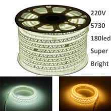 купить GD SMD LED Strip 1M-12M  220V Super Bright 5730 180LEDs/M LED Light Tape Outdoor IP67 Waterproof AC220V LED Rope Light +EU Plug недорого