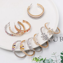Bohemian Fashion Small Ear Cuff Set Earring for Women Colorful Cubic Zirconia Stones Round Clip Earring No Pierced Jewelry(China)