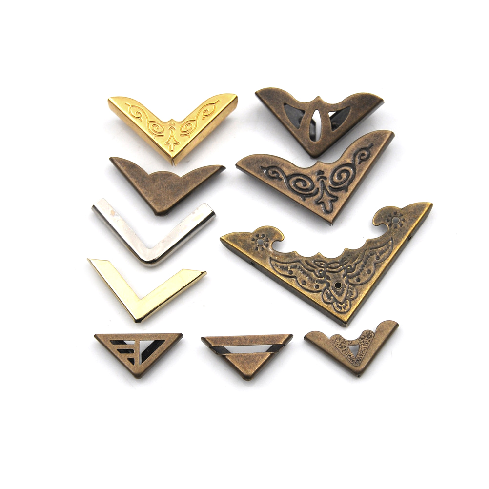 KESYOO 12pcs Metal Book Corner Protector Scrapbook Photo Album Diary Cover Corner Guard Notebook Edge Safety Protector for Home Office Antique Bronze