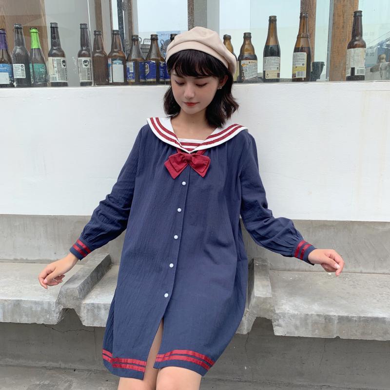 Price Control 50 ~ Photo Shoot Japanese-style Retro Soft Girl College Lolita Light Lo Dress