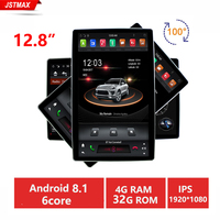 IPS 12.8 Rotation PX6 Tesla Style android 8.1 double 2 din Rotatable car universal gps multimedia radio No DVD player wifi usb