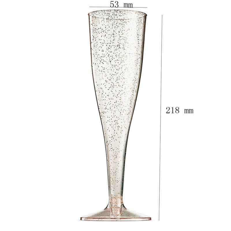10pcs 6.7 Ounce Disposable Party Champagne Cups Plastic Margarita Goblet Transparent Red Wine Glass Cups Juice Cocktail Cups