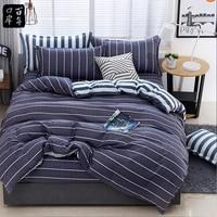 4Pcs/Set Bedding Set Bed Textile Products 21Style Bed Set Aloe Cotton Leaves Stripes Bed Sheet Sheet Pillowcase & Duvet Cover