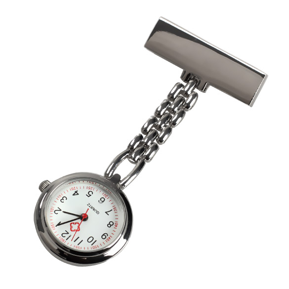 Fashion Mini Nurse Table Pocket Watch With Clip Brooch Chain Quartz Watches Gifts XRQ88