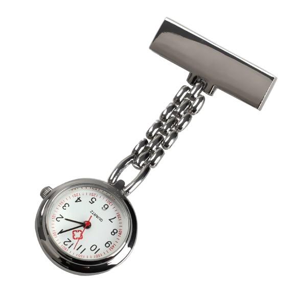 Fashion Mini Nurse Table Pocket Watch with Clip Brooch Chain Quartz Watches Gifts XRQ88