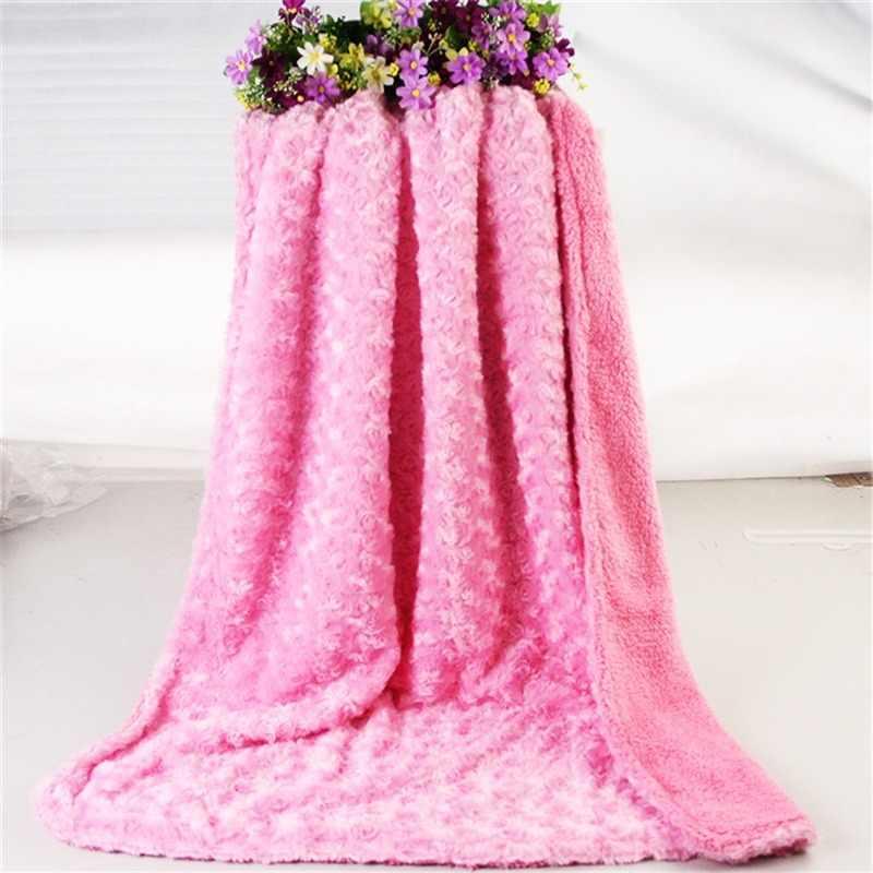 100*75 ซม.ผ้าห่มเด็กทารกการ์ตูนนุ่มสบายผ้าห่ม Coral ขนแกะ Manta Bebe Swaddle Wrap ชุดเครื่องนอน