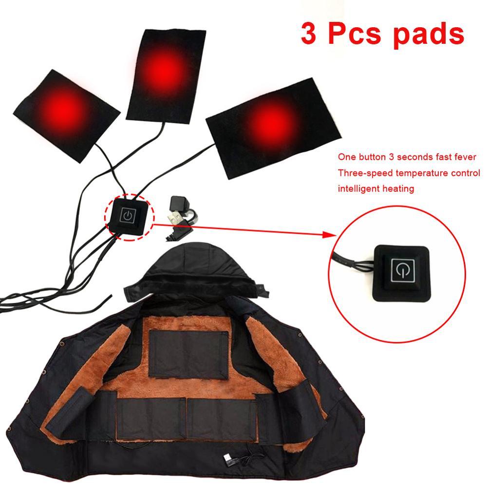 1 комплект, USB электрическая куртка с подогревом, грелки для улицы, теплые зимние грелки, жилетки для DIY, одежда с подогревом