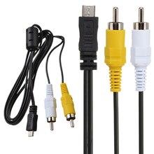 Микро-usb штекер 2 RCA AV адаптер аудио-видео кабель 150 см для Мобильный телефон LG деталь нитро-двигателя Himoto Redcat HD NOKIA N10 HUAWEI Ascend p1