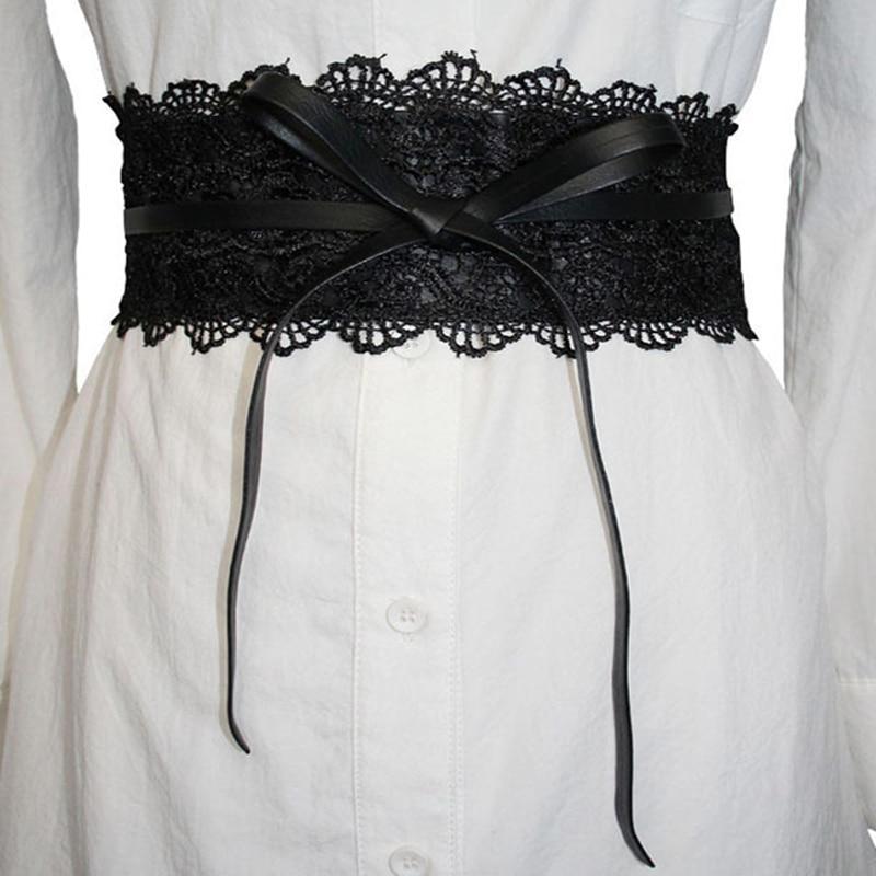 Elastic Lace Black Belts Cummerbund For Women Luxury Brand Designer Belts  Costumes Jeans Belt Female Wedding Dress Waistband