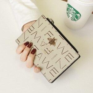 Image 5 - 2020小さな財布ショート革女性牛革マルチカードカードバッグビッグ超薄型カードバッグ名刺ホルダーカード