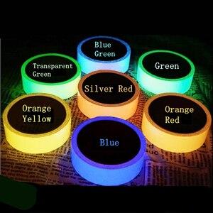 Image 1 - Светящаяся флуоресцентная Ночная самоклеящаяся светящаяся в темноте клейкая лента YX безопасное домашнее украшение предупреждающая клейкая лента